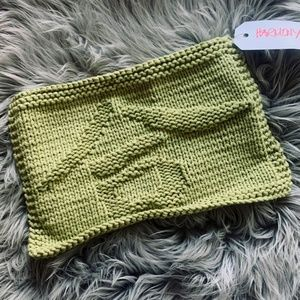 "Hand-knitted Dish cloth - ""Harmony"" (in Chinese)"